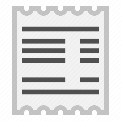 bill, document, invoice, pay, purchase, receipt icon