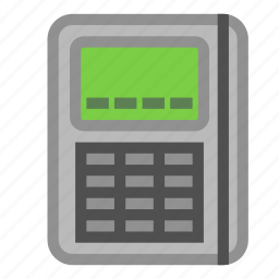 card, electronic, keypad, pay, pin, purchase, reader icon