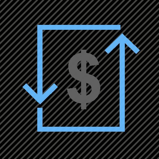 bill, cash, dollar, exchange, money, transaction, transfer icon