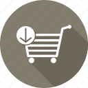 cart, commerce, download, ecommerce, shopping icon