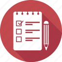 notepad, pen, pencil, text icon