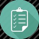checklist, list, notepad, paper