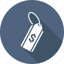 dollar, price, shopping, tag icon