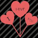 balloon, heart, heart sign, i love you, love logo, love sign