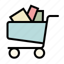 basket, buy, cart, full, shopping icon