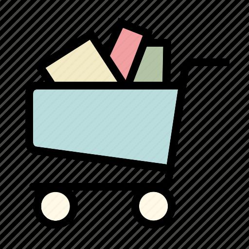 basket, business, buy, cart, full, online, shopping icon