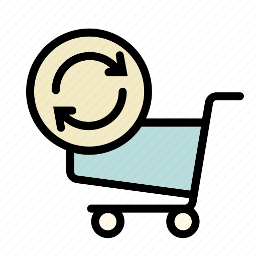 basket, business, calculate, cart, online, refresh, shopping icon