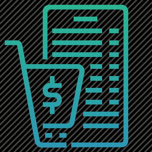 cart, cart summary, ecommerce, list, shop, shopping icon