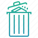 bin, cancel, delete, garbage, item, remove, trash icon