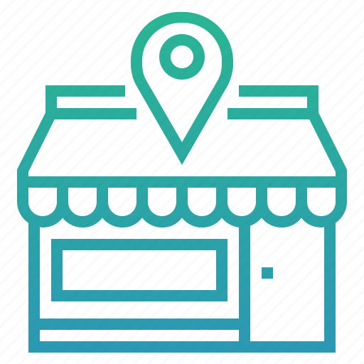 address, location, map, navigation, pin, shop, store icon