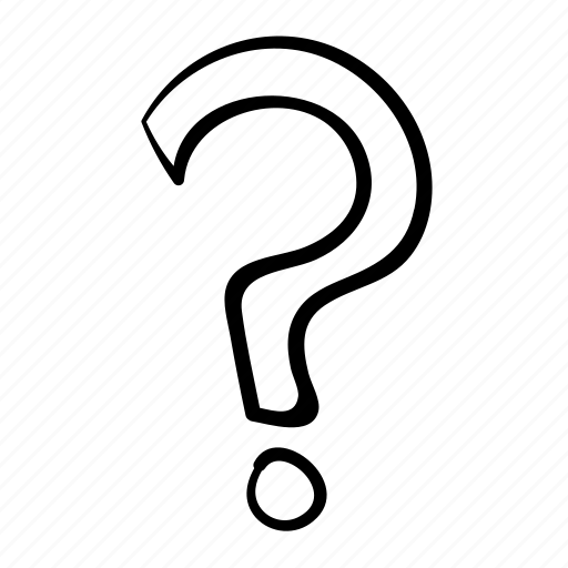 assistance, handdrawn, help, question, question mark icon