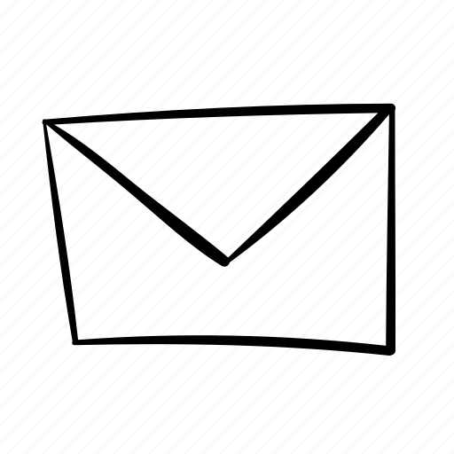 contact, contact us, emali, envelope, handdrawn, letter icon