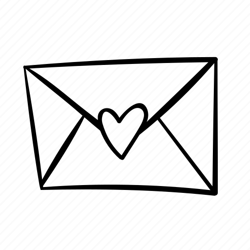 contact, contact us, email, envelope, handdrawn, letter, love letter icon