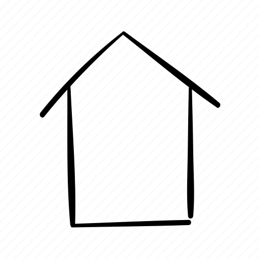 building, handdrawn, home, house, index page icon