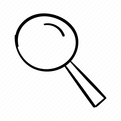 find, handdrawn, look, magnifying glass, search, search bar, see icon