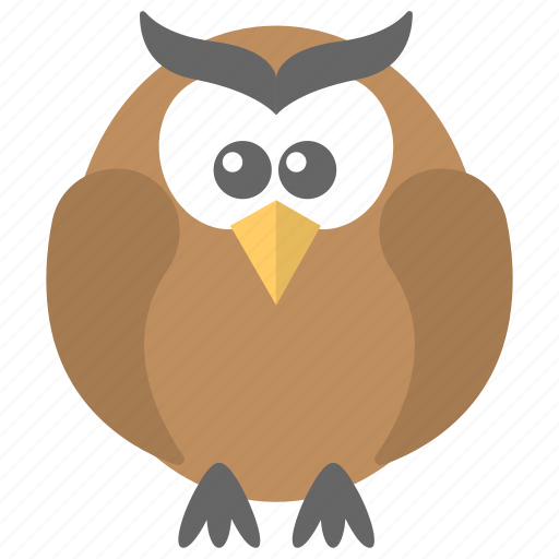 Bird, cartoon owl, owl, wisdom, wise bird icon - Download on Iconfinder