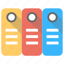 archives, binders, file folders, files, office documents icon
