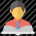 book reader, learner, pupil, scholar, student