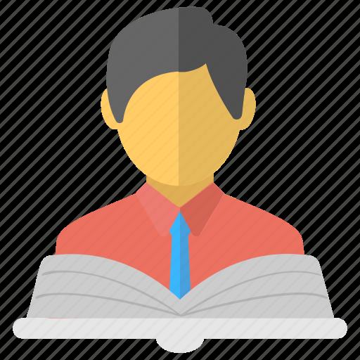 Book reader, learner, pupil, scholar, student icon - Download on Iconfinder