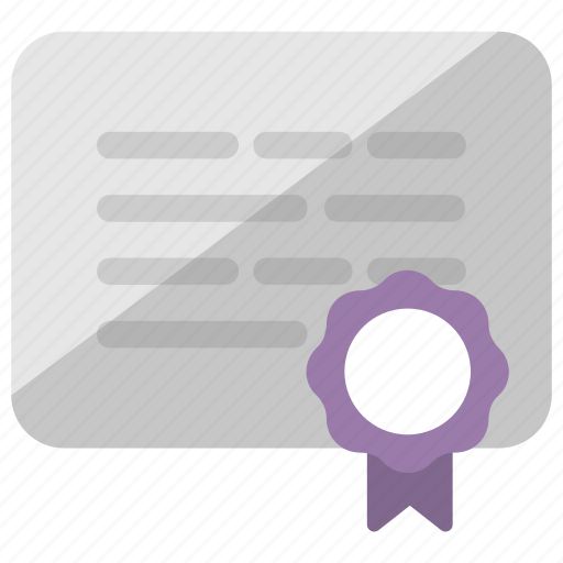 Certificate, certification, deed, degree, diploma icon - Download on Iconfinder