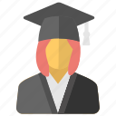 graduate, pupil, scholar, student, university student icon