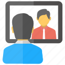 video call, video chat, video communication, video conference, web conferencing icon
