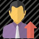 career advancement, career development, professional development, professional updating, successful man icon