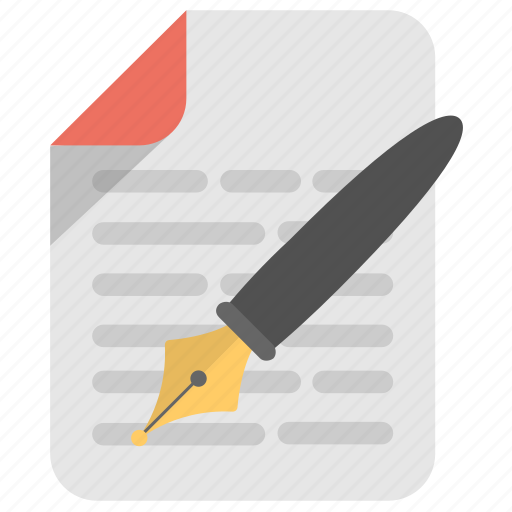 Authorship, composition, literature, text, writing icon - Download on Iconfinder