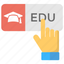 cloud-based education, educational technology, smart education, smart learning, smart school icon