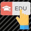 cloud-based education, educational technology, smart education, smart learning, smart school icon