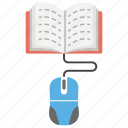 digital learning, e-book, e-education, e-learning, online learning icon