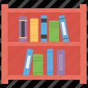 books rack, bookshelf, folders file, library, study room