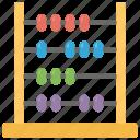 abacus, beads, mathematics, primary education, quantity icon