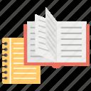 books, content, courses, exams preparation, knowledge, study books icon