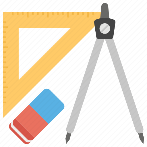 educational tools, elearning, geometric tools, learning tools, training tools icon