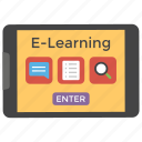 digital learning, e-book, e-learning, online education, online learning icon