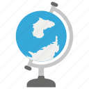 decorative globe, globe, map, office globe, world map icon