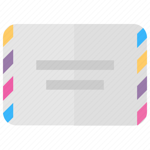 Air-post, airmail, letter, postal service, retro mail icon - Download on Iconfinder
