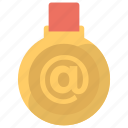 medal online, online achievement, online award medal, online gold medal, online success icon
