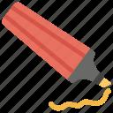 highlighter, marker, pen, student equipment, study tool icon