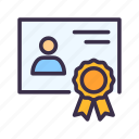 certificate, education, elearning, learning, lesson, study, university icon