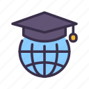 education, elearning, global, globe, knowledge, learning, lesson, study icon