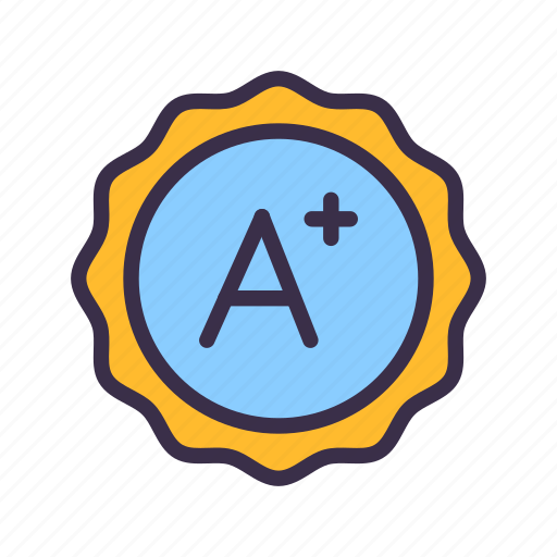 A, education, elearning, grade, learning, lesson, study icon - Download on Iconfinder