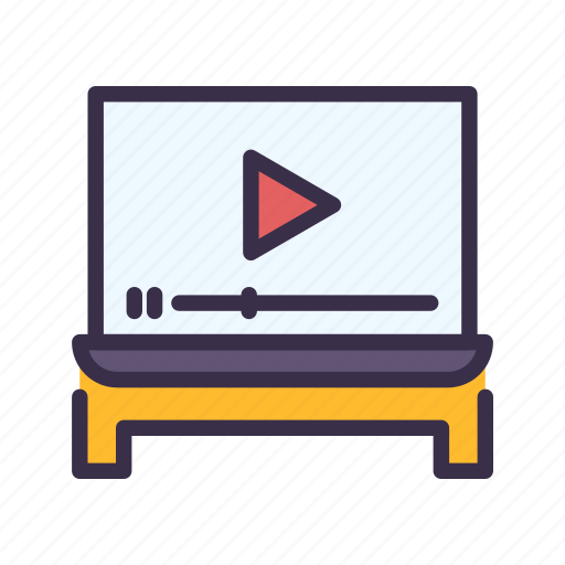 Education, elearning, learning, lesson, multimedia, study, video icon - Download on Iconfinder