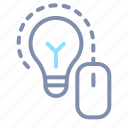bulb, creative, creativity, idea, lightbulb, mouse icon