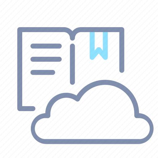 cloud, digital, education, learning, library, online icon