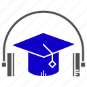audio, course, education, learning, study icon