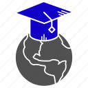 education, global, learning, study icon