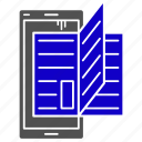education, learning, online, reading, study icon