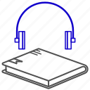 audio, book, education, learning, study icon
